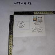 FB11920 CARTOLINA POSTALE CAPUA 1987 TIMBRO ANNUALE RITROVAMENTO REPERTO EPOCA NORMANNA ARCIVESCOVADO - 1981-90: Storia Postale