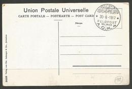 GERMANY / TURKEY. WW1. 1917. FELDPOST CARD. MILITARY MISSION AOK 4. UNADDRESSED, JERUSALEM ON PICTURE SIDE. - Briefe U. Dokumente