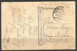 GERMANY. WW1. 1917. FELDPOST CARD. TELEPHONE UNIT - CONNECTIONS. - Briefe U. Dokumente