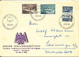 Finland Cover Sent To Germany 23-9-1956 Special Postmark And Cachet - Briefe U. Dokumente