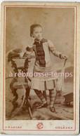 CDV Fillette Coquette-photo Charles à Orléans - Oud (voor 1900)