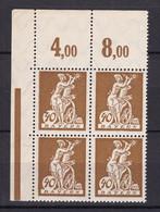 Bayern - 1920 - Michel Nr. 183 P OR Viererblock Ecke - Postfrisch - Bayern