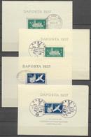 Danzig: 1937 DAPOSTA-Blöcke Gestempelt Beide Farben - Danzig