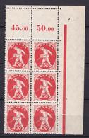 Bayern - 1920 - Michel Nr. 184 P OR Sechserblock Ecke - Postfrisch - Bayern