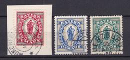 Bayern - 1920 - Michel Nr. 187/189 - Gestempelt - Bayern