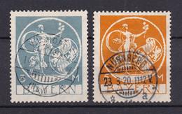 Bayern - 1920 - Michel Nr. 192/193 - Gestempelt - 40 Euro - Bayern