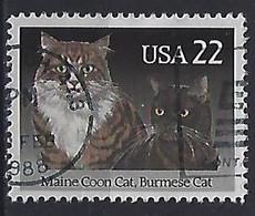 USA  1988  Cats  (o) Mi.1967 - Gebraucht