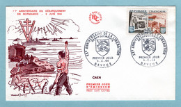 FDC France  1964 - Débarquement Allié En Normandie - YT 1409 - 14 Bayeux - 1970-1979