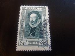 Michel Eyquem De Montaigne (1533-1592) Moraliste - 60c.+80c. - Vert-bleu - Oblitéré - Année 1943 - - Gebraucht