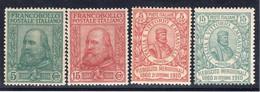 Regno D'Italia (1910) - Cinquantenario Del Risorgimento In Sicilia. Effigie Di Giuseppe Garibaldi - Nuovi