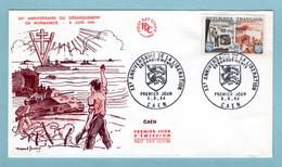 FDC France  1964 - Débarquement Allié En Normandie - YT 1409 - 14 Caen - 1970-1979