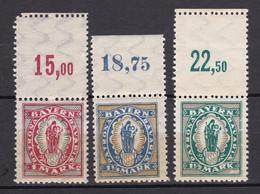 Bayern - 1920 - Michel Nr. 187/189 P OR - Postfrisch - Bayern