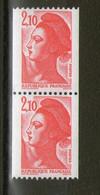 N° 2223** Et 2223a**_1 N° Rouge En Paire - 1982-90 Liberté De Gandon