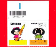 Nuovo - MNH - ITALIA - 2021 - Mafalda – Fumetti - B - Barre 2115 - Codici A Barre