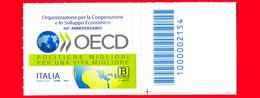 Nuovo - MNH - ITALIA - 2021 - 60 Anni Dell'OECD - Organizzazione Per La Cooperazione – B Zona 1 - Barre 2154 - Codici A Barre
