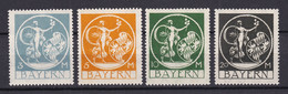 Bayern - 1920 - Michel Nr. 192/195 - Postfrisch - Bayern
