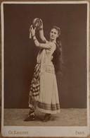 Orientalisme - 2 Photos Format Cabinet - Danseuse Orientale Danse Femme Costume - Photo Ch BARENNE PARIS - Fotografía
