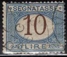 Italy (1874) 10 Lire Postage Due Used. Scott J18. - Segnatasse