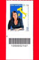 Nuovo - MNH - ITALIA - 2021 - Jole Santelli (1968-2020) – Ritratto – Calabria - B - Barre 2167 - Codici A Barre