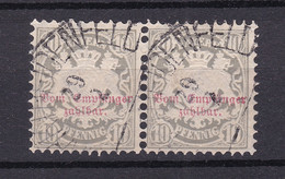 Bayern - 1882 - Portomarken - Michel Nr. 9 Paar Halbkreisstempel - Gestempelt - Bayern