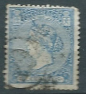ESPAGNE SPANIEN SPAIN ESPAÑA 1866 4 CUARTOS ISABEL II DENTED USED ED 81 MI 74 SG 93 SC 82 YT 81 - Used Stamps