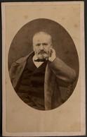 Victor HUGO - Photo Ancienne Format CDV - Poète Dramaturge écrivain Personnalité Né à Besançon - Schriftsteller