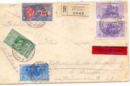 1932 Raccomandata Da Cardone Riviera Per Germania Con Interessante Affrancatura - Storia Postale