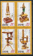 RDA-Musée De L'optique Carl Zeiss Iena YT 2192-2195 Obl./ DDR- Optisches Museum Mi.Nr. 2534-2537 Gest. - Gebraucht