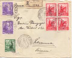 1939 Raccomandata Da Milano Per Losanne Con Impero Da 75c 25c E 50c - Storia Postale