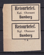 Bayern - Retourmarken - Bamberg Paar Ecke - Ungebr. - 100 Euro - Bayern