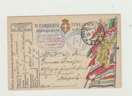 FRANCHIGIA POSTA MILITARE 173 DEL 1918 ANNULLO COMANDO 2114 COMPAGNIA MITRAGLIATRICI WW1 - Franchigia
