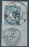 ESPAGNE SPANIEN SPAIN ESPAÑA 1867 QUEEN ISABEL II SET USED ED 88 MI 81 YT 87 SG 100 SC 89 - Used Stamps