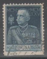 ITALIA 1925 - Giubileo L. 1 (dent. 11) - Non Dentellato In Basso - Usati