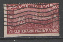 ITALIA 1926 - S. Francesco 60 C. - Non Dentellato Su Due Lati - Usati