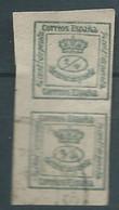 ESPAGNE SPANIEN SPAIN ESPAÑA 1875 CORONA REAL 1/4 CENT SET 2V USED ED 173 MI 165A YV 172 SG FF1A SC MR 7 - Used Stamps