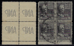 USA United States 1926 / 1940 Block Of 4 Stamp With Perfin ANP ByAcme Newspapers - Perfins