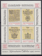 DÄNEMARK  Block 4, Postfrisch **, Internationale Briefmarkenausstellung HAFNIA '87, Kopenhagen, 1985 - Blocks & Kleinbögen