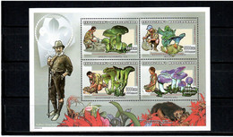 Madagascar 1999 .  Flora , Mushrooms , Scouts . M/S Of 4. Michel # 2358-61 - Madagaskar (1960-...)