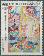Frankreich 1989 Zeitgenössische Kunst Gemälde Charles Lapicque 2744 Gestempelt - Gebraucht