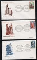 Madagascar  TANANARIVE  18 Août 1968   Sur N° Yv 452, 453, 454, FDC,  Edifices Cultuels - Madagaskar (1960-...)