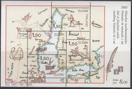 FINNLAND, Block 1, Postfrisch **,  FINLANDIA '88, Helsinki, Postbeförderung Im 17. Jahrhundert 1985 - Blocks & Kleinbögen