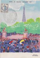 Tour De France Cycliste 1955 Du 7 Au 30 Juillet - Briefe U. Dokumente