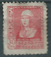 ESPAGNE SPANIEN SPAIN ESPAÑA 1938QUEEN  ISABEL CATOLIC 30 CENTS ROSE USED ED 857 YT 660 MI 813 SG 932 SC 674 - 1931-50 Used