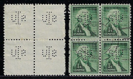 USA United States 1922 / 1984 Block Of 4 Stamp With Perfin SIU By The State University Of Iowa - Perfins