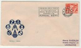 Suisse // Lettre Avec Oblitération Du Kursaal Bern, 2ème Internationale Motiv-Briefmarken - Cartas
