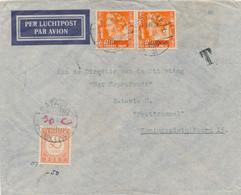 Nederlands Indië - 1941 - 30 Cent Postage Due  Op Taxed Business LP-cover Van LB Ternate Naar Batavia - Netherlands Indies