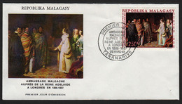 Madagascar  TANANARIVE  29 Mars 1969 Sur N° Yv 460, FDC,  Ambassade Près La Reine Adélaïde - Madagaskar (1960-...)