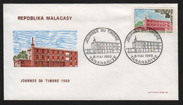 Madagascar  TANANARIVE  8 Mai 1969 Sur N° Yv 462, FDC,  Journée Du Timbre - Madagaskar (1960-...)