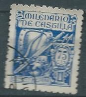 ESPAGNE SPANIEN SPAIN ESPAÑA 1944 MILLENARY OF CASTILLA 75 CENTS BLUE USED ED 979 YT 735 MI 919 SG 1051 SC 738 - 1931-50 Used