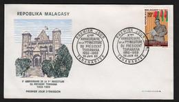 Madagascar  TANANARIVE  26 Juin 1969 Sur N° Yv 464, FDC,  Tsiranana - Madagaskar (1960-...)